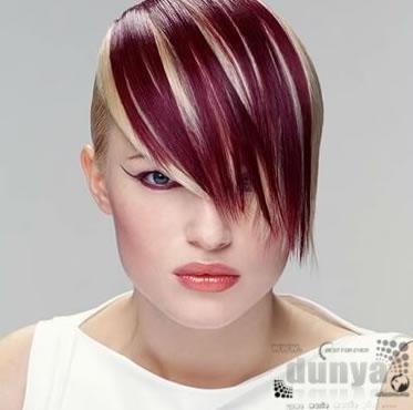 Креативный цвет на коротких волосах фото